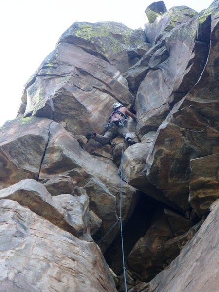 "Rock Climbing Photo: ""Direct Left"", most easily accessed from..."