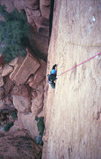 Rock Climbing Photo: Adam Therneau cruxin' on Red Heat. December '11.