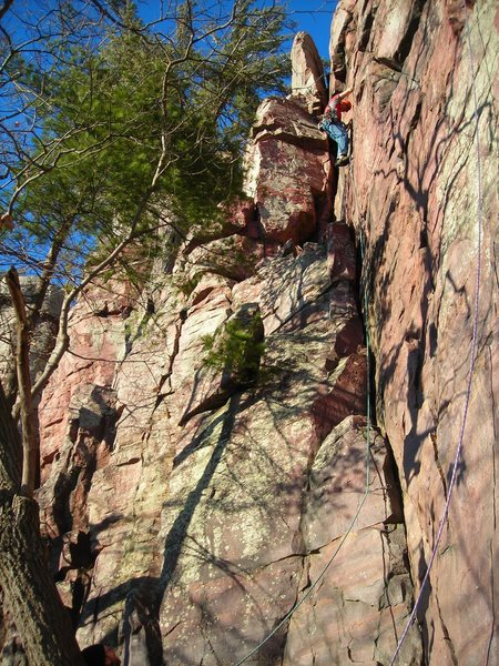 Rock Climbing Photo: Cobalt blue sky above, minimal wind, and temps in ...