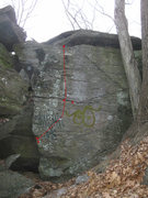 Rock Climbing Photo: Wall adjacent to the Blade, Sit and Stand start in...