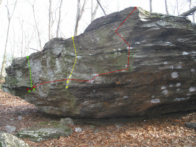 V6 Traverse in Red