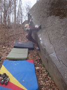 Rock Climbing Photo: Jen working through Tomb Traverse, Governor Stable...