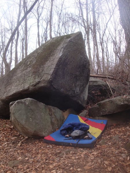 Sattelite Boulder.  There's a couple V0's, a V1, and a V3 in the vicinity.