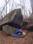 Rock Climbing Photo: Sattelite Boulder.  There's a couple V0's, a V1, a...