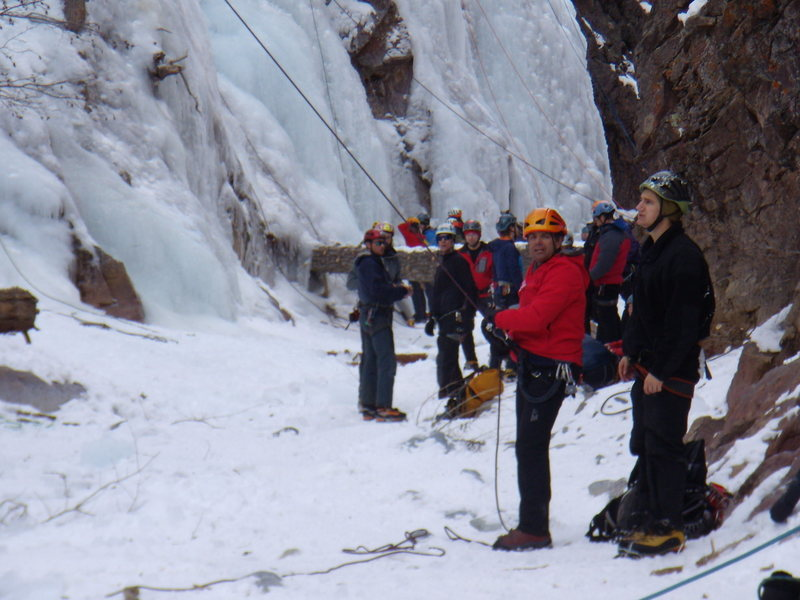 Rock Climbing Photo: South Park - Ouray CO.  Climbing with friends. Our...