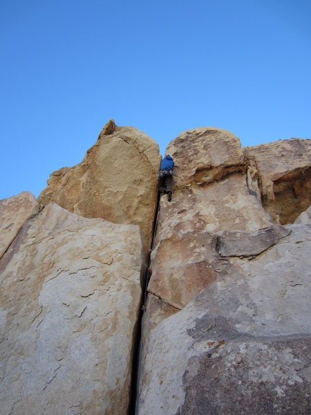 Rock Climbing Photo: At the crux on the FA