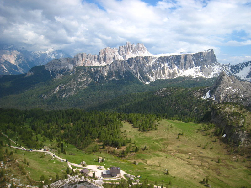 The view back to Cortina d'Ampezzo
