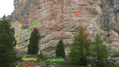 Rock Climbing Photo: A small subset of the popular sport routes along t...