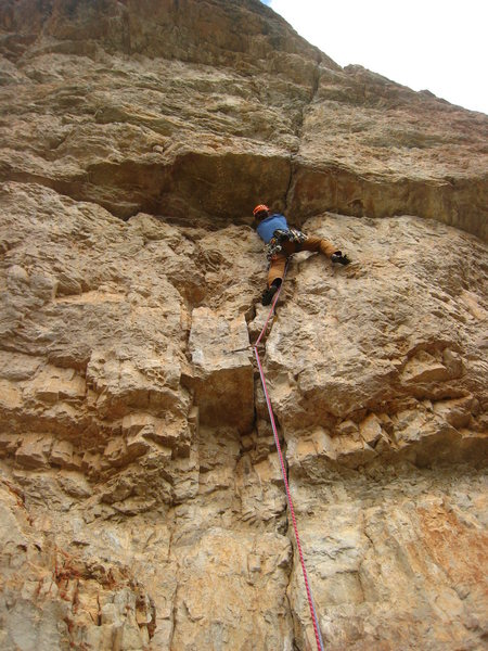 Approaching the first crux