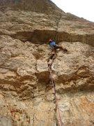 Rock Climbing Photo: Approaching the first crux