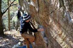 Rock Climbing Photo: cube traverse