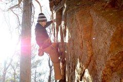 Rock Climbing Photo: after crux