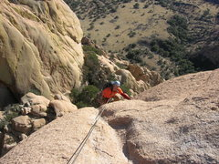 Rock Climbing Photo: Top of the fourth pitch. Another fun pitch, awkwar...