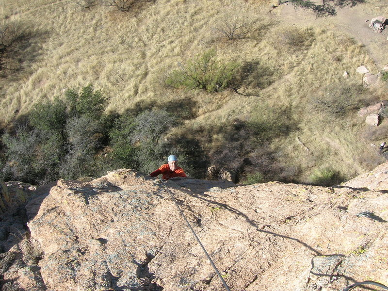 Rock Climbing Photo: Pulling through the slightly overhanging, leaning ...