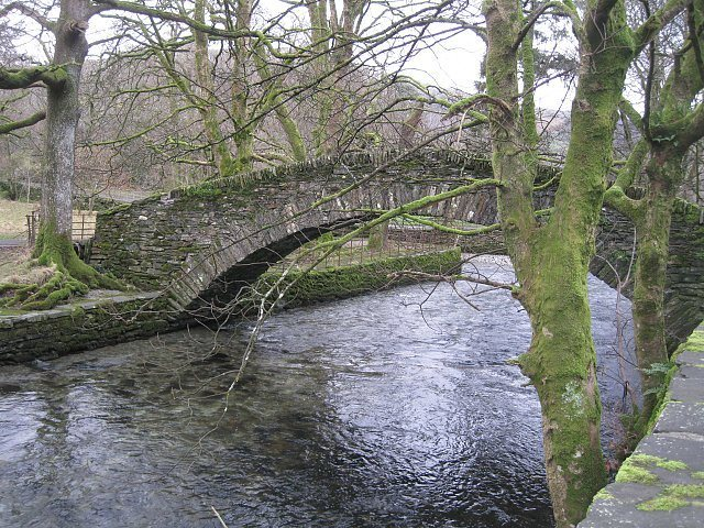Rock Climbing Photo: Bridge near town of Ambleside, English Lake Distri...