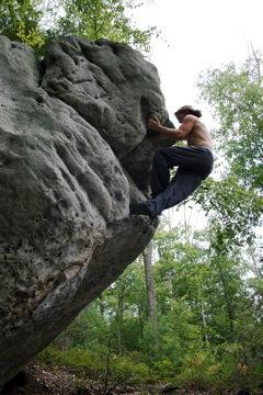 Rock Climbing Photo: Steven K. in his element.