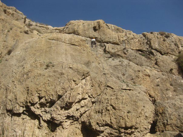 Rock Climbing Photo: Coming up to the crux on Prologue