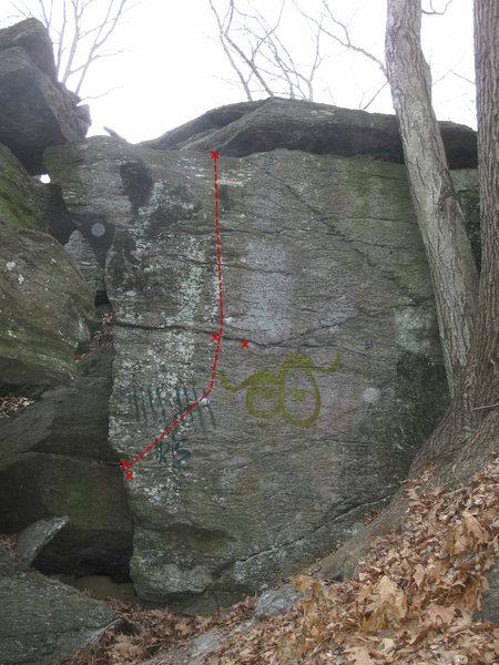 Rock Climbing Photo: Great Face Climb @ Mnt. Laurel