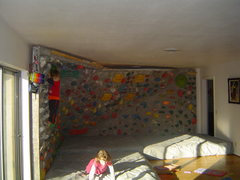Rock Climbing Photo: 14 x 14 x 8 foot wall.  large 50 degree overhangin...