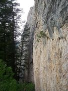Rock Climbing Photo: The route goes along the prow at the back of the p...