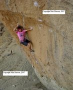 Rock Climbing Photo: Photo of me on my onsight of Rude Boys