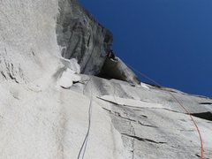 Rock Climbing Photo: Pitch 14.  Freed at 10d with no Large cams, one of...
