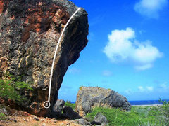 Rock Climbing Photo: Steep arete on boulder just south of Alien Skull B...