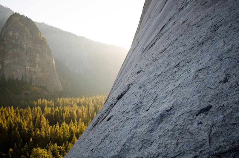 Rock Climbing Photo: El Capitan Alcove near sunset