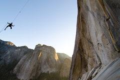 Rock Climbing Photo: El Capitan alcove swing