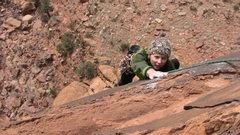 Rock Climbing Photo: Just a little bit further.
