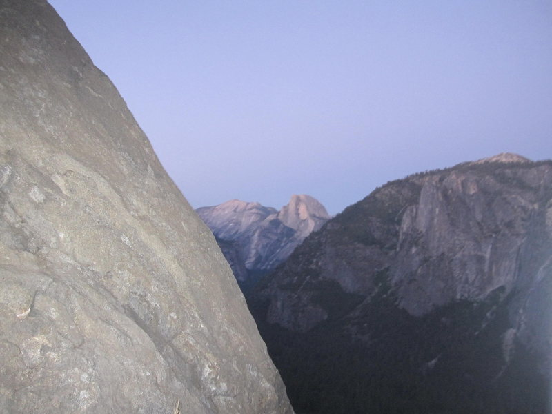 half dome overlook on el cap