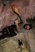 Rock Climbing Photo: Jakob leading in the arch at Vertical Dreams Nashu...