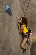 Rock Climbing Photo: Chloe on my devious slab route at Vertical Dreams ...
