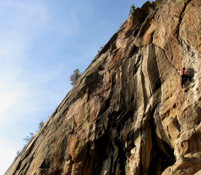 Rock Climbing Photo: Zoltan piecing together the details of this crypti...