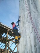 Rock Climbing Photo: icy cold day in teens
