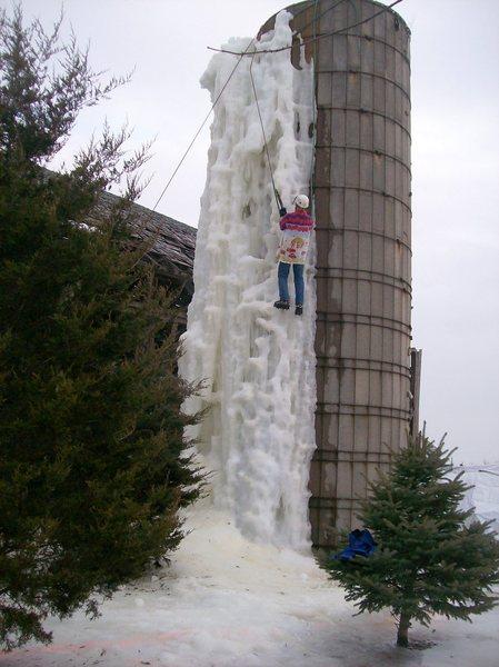 Rock Climbing Photo: nice ice today