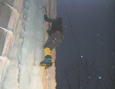 Rock Climbing Photo: colorful night climbs