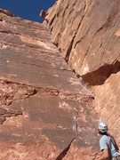 Rock Climbing Photo: Good shot of Valentines Day.  Getting ready to lea...