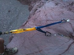 Rock Climbing Photo: First Rappel spot at Boy Scout Canyon out of Bould...