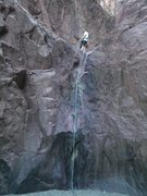 Rock Climbing Photo: Me about to lower from first rappel spot at Boy Sc...