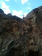 Rock Climbing Photo: Cub Scout! Boulder Beach area at Lake Mead.