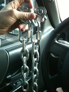Rock Climbing Photo: My shiny new anchors. Im developing a new area aro...