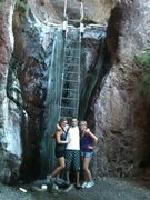 Rock Climbing Photo: Hot Springs Arizona Side. That ladder gets a littl...