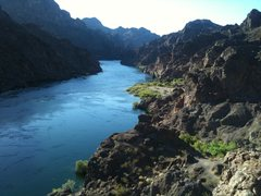 Rock Climbing Photo: Looking up the Colorado river below the damn. Ther...