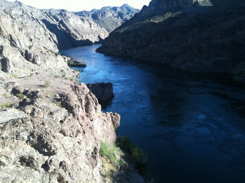 Rock Climbing Photo: Looking down the Colorado River