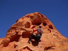 Rock Climbing Photo: Little bit of climbing @ Valley of Fire