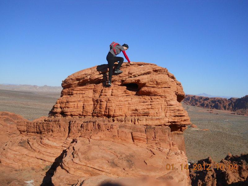 Little bit of climbing @ Valley of Fire