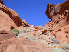 Rock Climbing Photo: Valley of Fire, the way up