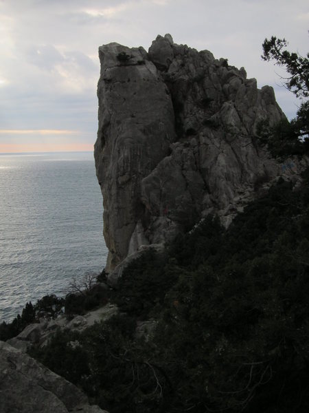 Beautiful coastal cliffs offer a spectacular setting for climbing.