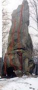 Rock Climbing Photo: 5 - Bridge Across Forever. 5.12d. 11 draws. 6 - Fo...